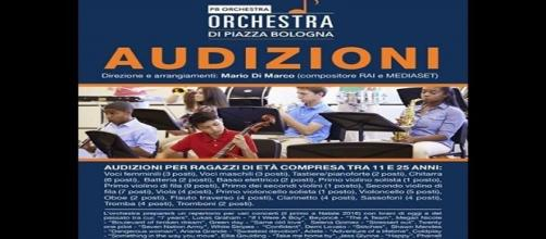 LA LOCANDINA PER LE AUDIZIONI DELLA PB ORCHESTRA