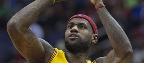 LeBron James, by Keith Allison / flicr cc via wikipedia