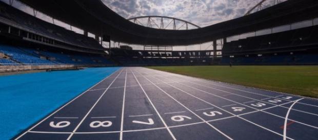 A pista do Estádio Olímpico ficou pronta.