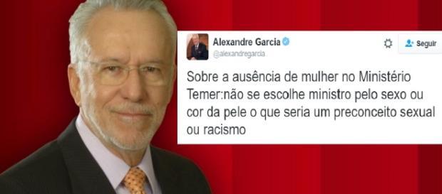 Alexandre Garcia usou rede social oficial