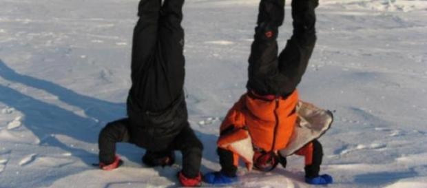 Coco Galescu şi Romeo Dunca la Polul Nord