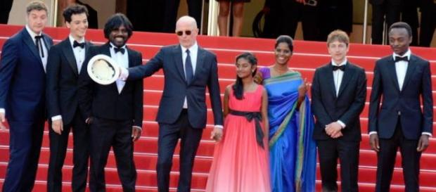 Director Jacques Audiard and cast at Cannes Film Festival 2015 (Photo: By Georges Biard, commons.wikimedia.org)