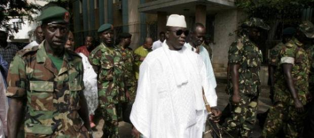 Gambia's president walks outside of the presidential compound in Banjul / Sulayman Gassama, statehouse.gm