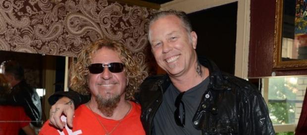 Sammy Hagar e James Hetfield per la serata