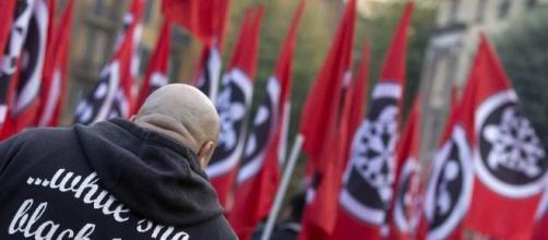Manifestazione del movimento di estrema destra Casa Pound