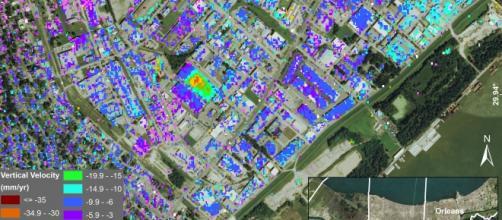 Una mappa costruita con la ricerca della NASA.