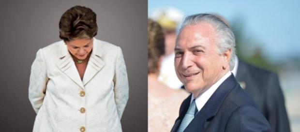Dilma e Michel Temer - Imagem/Google