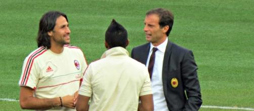 Allegri with Mario Yepes / Photo by Goatling, via wikimedia