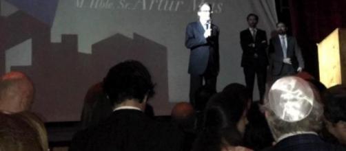 Artur Mas durante su discurso como premiado por los israelíes catalanes.