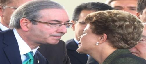 Eduardo Cunha e Dilma Rousseff: caminhos opostos