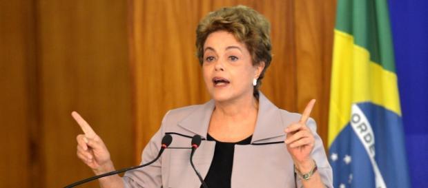 Dilma Roussef, en plein discours