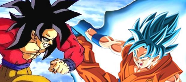Goku Fase 4 versus modo Dios Azul