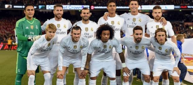 Una formazione del Real Madrid 2015/2016