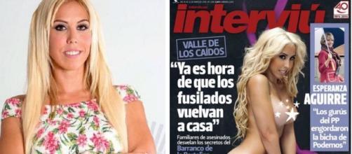 Amanda en la portada de la revista Interviú