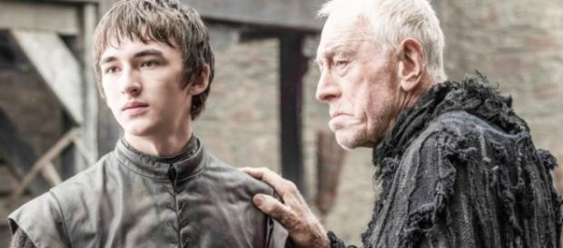 Bran e o Corvo de Três Olhos no primeiro episódio.