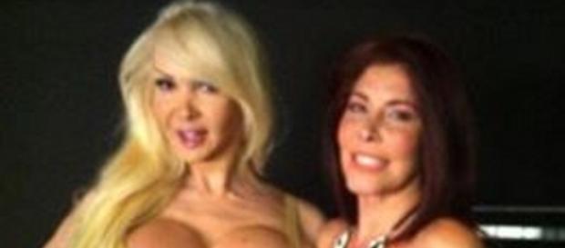 Le star dell'eros Kristel Bulgari e Milly D'Abbraccio