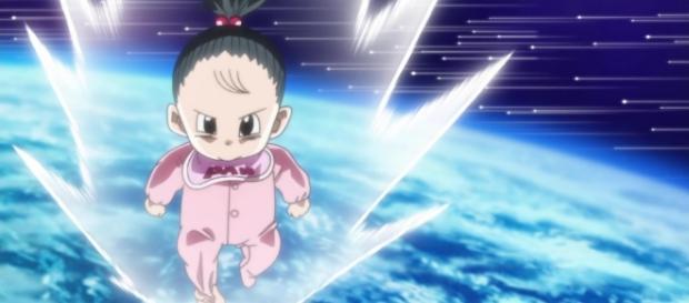 Pan la sayayin nueva mistica volando en el espacio
