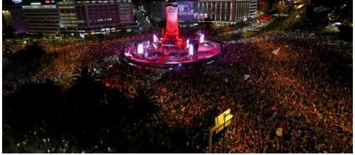 Foi assim a festa do tricampeonato do Benfica