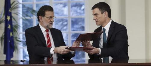 Mariano Rajoy y Pedro Sánchez, de izquierda a derecha.