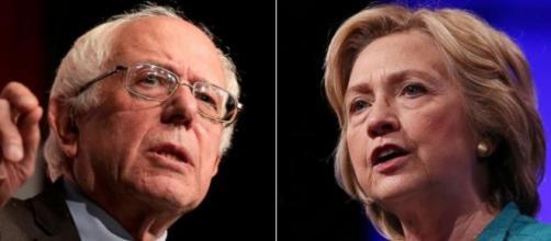 Sanders y Clinton, los dos candidatos del partido demócrata