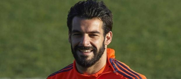Álvaro Negredo, jugador del Valencia