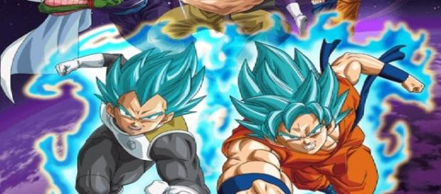 Dragon ball super saga freezer Goku y Vegeta Ssj dios azul.