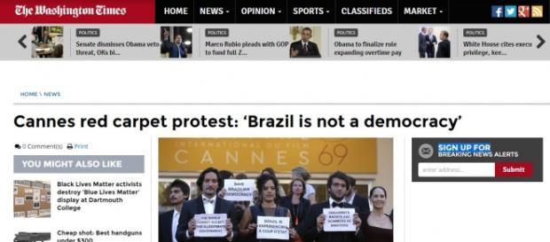 """Notícia do The Washington Times: """"Brasil não é uma democracia"""""""