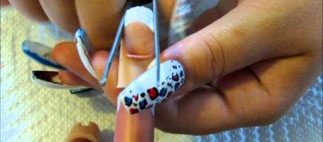 Acrylic nail application process (YouTube)