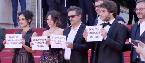 Los actores brasileños en Cannes afp