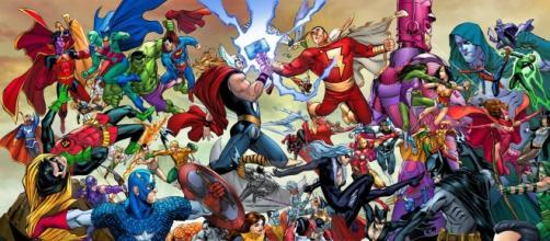 Marvel y DC enfrentados los cómics... Y en el cine.