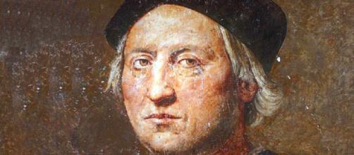 Un ritratto dell'esploratore e navigatore genovese Cristoforo Colombo