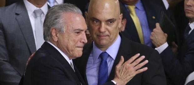 Temer nomeia o novo Ministro da Justiça, Alexandre de Moraes.