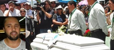 Funeral de Kevin Espada. No detalhe, Tadeu de Macedo Andrade, preso nesta quarta-feira (18).