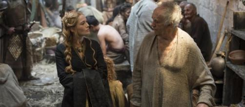 Cersei Lannister y Gorrión Supremo.
