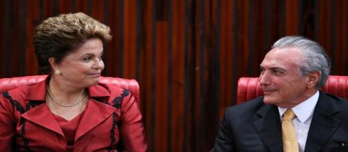 Dilma Rousseff e Michel Temer juntos