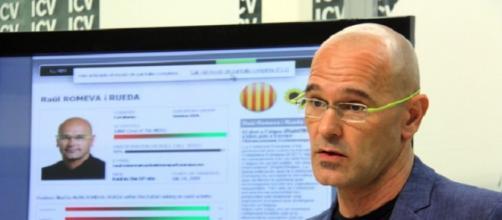 Raül Romeva, Conseller d'Afers Exteriors del Govern catalán.