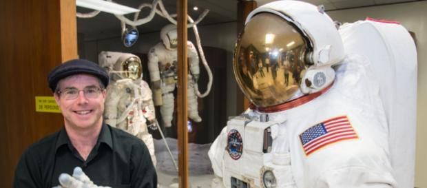 Andy Weir at the Johnson Space Center (NASA)