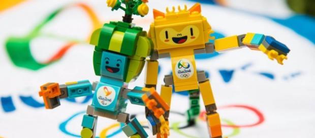 As versões Lego dos mascotes da Rio 2016.