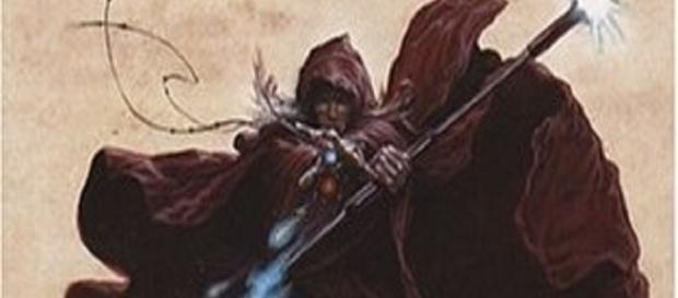 """Couverture de """"La trilogie du Magicien noir, tome 1 : La Guilde des magiciens"""""""