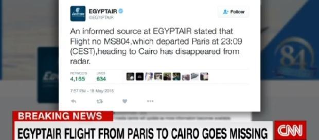 Foto reprodução Twitter Egyptair