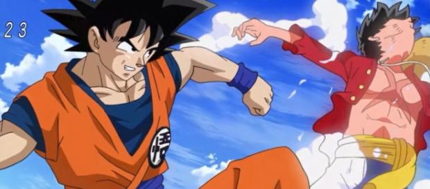 Goku Vs Luffy especial One Piece x Dragon Ball x Toriko.