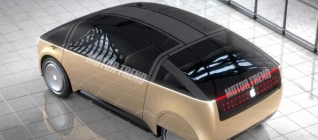 Screenshot of rendering of the Apple Car. 'Motor Trend'/YouTube.