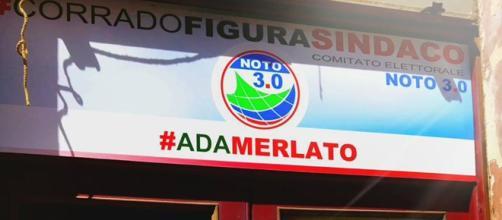 Banner del comitato di Ada Merlato.