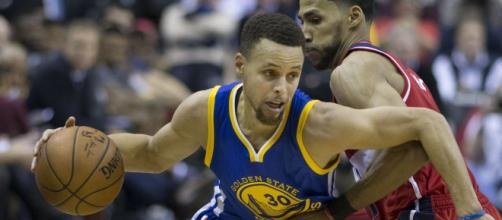 Photo of Stephen Curry (Wikimedia Commons)