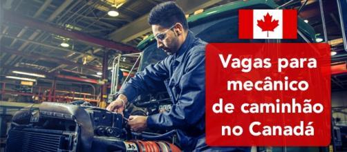 Vagas para mecânico de caminhão no Canadá - Foto: Reprodução Itabc
