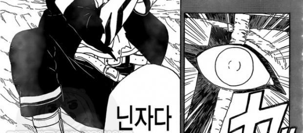 Byakugan de Boruto es mostrado en la Página 4 del manga 1