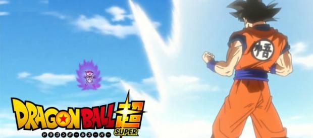 """La pelea de Goku y Bills y Goku contra """"Monaka"""""""