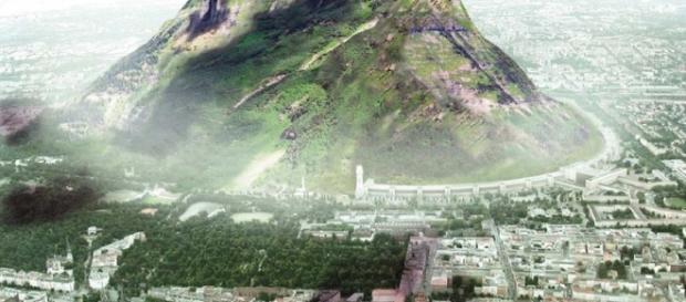 The Berg, montaña artificial diseñada por Jakob Tigges