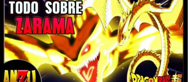Zarama el dios dragón proveniente de los universos 6 y 7.