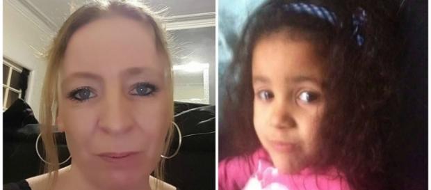 Zena Jackson com a filha Cidalia, de seis anos